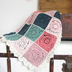 Maybelle Flower blanket, see all one color example saved to my laptop desktop, from FB.