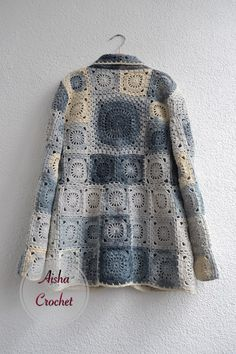 Crochet Pattern For A Baby Dress Fashion Nova Navy Dress! Mode Crochet, Knit Crochet, Crochet Hats, Crochet Jacket, Crochet Cardigan, Knitting Patterns, Crochet Patterns, Crochet Squares, Granny Squares