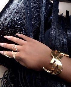Yves Saint Laurent all over the place.  |  bracelets