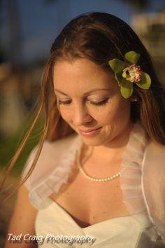 Beautiful bride at Kapalua Bay, Maui, Hawaii. Photo by Tad Craig Photography