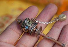 miniature prayer wheel