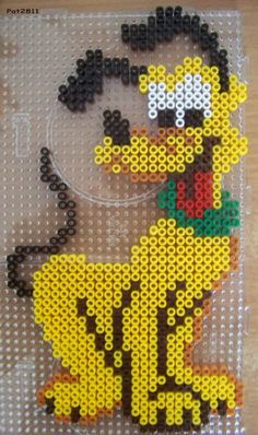 Hama - welcome to a colorful world of beads Hama Disney, Hama Beads Disney, Pluto Disney, Disney Hama Beads Pattern, Perler Bead Designs, Hama Beads Design, Diy Perler Beads, Perler Bead Art, Pearler Beads
