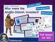 A full lesson for about the Anglo-Saxons invaders, including a detailed lesson plan, Powerpoint and pupil resource sheets. Who were the Anglo-Saxon inv. Primary History, Teaching History, Teaching Resources, Vikings Ks2, Anglo Saxon, How To Find Out, Homeschool, Activities, How To Plan