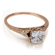 Rose Gold Engagement Rings NYC | Vintage Wedding Bands | Catherine Angiel - Catherine Angiel perfection. I think its exactly what I want.