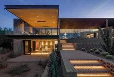 Ghost Wash House in Paradise Valley by Architecture-Infrastructure-Research Modern Architecture House, Modern House Design, Architecture Design, Sustainable Architecture, Pavilion Architecture, Paradise Valley, Desert Homes, Villa Design, Design Art