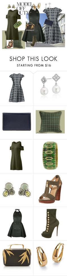 """""""Aya's Scottish Vacation"""" by laura-winters-1 on Polyvore featuring Armani Collezioni, Blue Nile, Christian Dior, Mark Davis, Stephen Dweck, MICHAEL Michael Kors, Christian Louboutin, Elie Saab and Palm Beach Jewelry"""