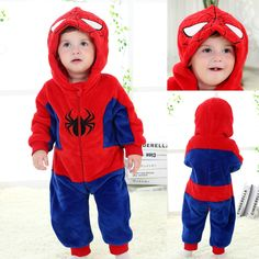 Superhero Spiderman Toddler baby kigurumi onesie costume