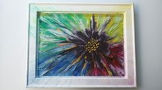 Květina - abstrakce, akryl