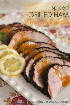 Spiced Grilled Ham with Citrus Glaze is a delicious way to prepare your Easter ham. Cooking it on the grill is easy and saves on oven space!