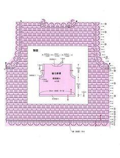 Crochet dress pattern for girls 1