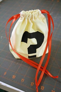 DIY bags for advent garland - stencil/paint numbers instead of the ? - add some embroidery from sewing machine
