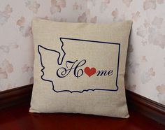 Custom State Pillow Cover Tennessee Map Pillow Case Linen - Us map pillow personalized