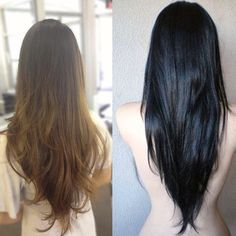 The v-shaped back is a simple yet bold and dramatic hairstyle. Check out these v-cut hair picture to get the look for long hair.