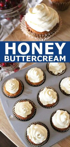 Easy Honey Buttercream Frosting – Sugar Free, Paleo The best buttercream frosting recipe! Sugar free, egg free, and sweetened with honey only. This buttercream icing is perfect for Paleo and GAPS diet desserts! Make it today! Paleo Frosting, Easy Buttercream Frosting, Healthy Frosting Recipes, Cookie Frosting, Vanilla Buttercream, Paleo Dessert, Healthy Desserts, Honey Dessert, Healthy Sugar