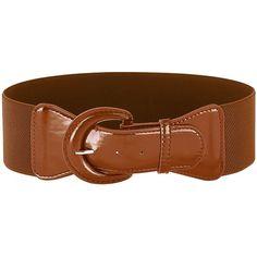 2016 New Design Women Retro Wide Belt Leatherette Cinch Belt (Brown,... ($9.99) ❤ liked on Polyvore featuring accessories, belts, thick belt, fat belt, brown belt, retro belt and wide brown belt