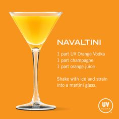 UV Vodka Recipe: Navaltini