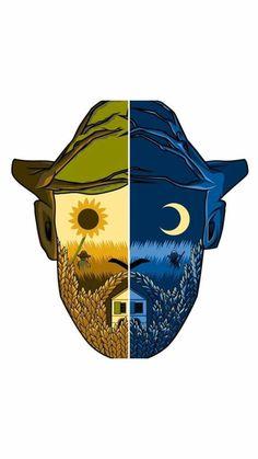 """Van Gogh Museum T-Shirt design """"A Portrait"""" Vincent Van Gogh, Van Gogh Wallpaper, Van Gogh Tattoo, Van Gogh Art, Van Gogh Museum, Van Gogh Paintings, Galaxy Painting, Art Hoe, Art Inspo"""
