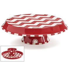 The Jolly Christmas Shop - Chevron Ceramic Cake and Chip and Dip Tray, $54.00 (http://www.thejollychristmasshop.com/chevron-ceramic-cake-and-chip-and-dip-tray/)