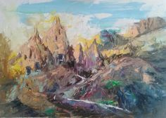 Cappadocia. Oil on canvas,50*70 cm.