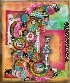 Collage on canvas board from a class with Karen Hayselden at Art From The Heart | by Tr4cy1973