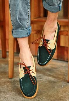 pu belt men's boat shoes