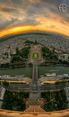 Top of the world ... View from top of Eiffel Tower