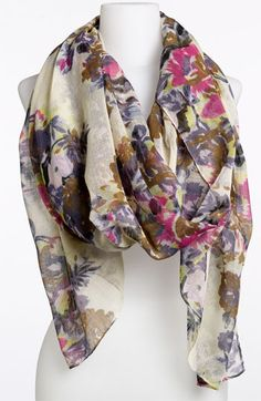 Lulu Floral Print Sheer Scarf available at Nordstrom $18.00
