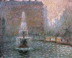 The Athenaeum - Trafalgar Square (Henri Le Sidaner - ) Trafalgar Square, Icelandic Artists, Post Impressionism, Pointillism, Picasso, Artists Like, French Artists, Your Paintings, Painting On Wood