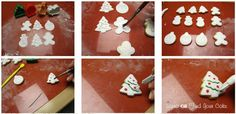Christmas cookies with fondant - by FindYourCake @ CakesDecor.com - cake decorating website