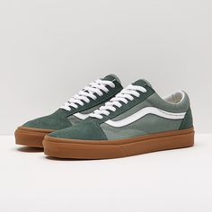c6e8b576fa66 Mens Shoes - Vans Old Skool - Duck Green - VA38G1Q9V Mens Vans Shoes