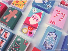 Such an adorable matchbox advent calendar! 24 little vintage style boxes to put a little trinket into. Grab the PDF dowload! Advent Calendars For Kids, Diy Advent Calendar, Calendar Printable, Calendar Ideas, Christmas Is Coming, Christmas Holidays, Christmas Boxes, Winter Holidays, Christmas Ideas