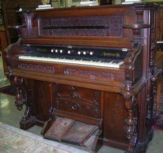 Estey Pump Organ | 1501: ***VICTORIAN PUMP ORGAN BY J. ESTEY AND COMPANY