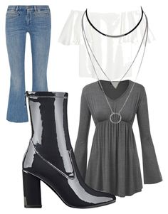 """Untitled #2232"" by bellagioia ❤ liked on Polyvore featuring M.i.h Jeans, Valentino and GUESS"
