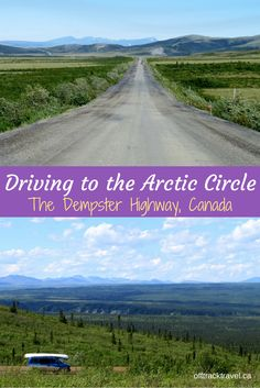 A long and dirty drive to the Arctic, through the middle of tundra, mountains and limitless wilderness; quite simply, the Dempster Highway must be one of the best road trips in the world. Cool Places To Visit, Places To Travel, Canadian Travel, Road Trip Destinations, Alaska Travel, Alaska Cruise, Visit Canada, Arctic Circle, Travel Abroad