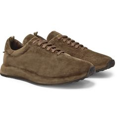 Officine Creative Race Suede Sneakers In Green Fashion Advice, Fashion News, Latest Fashion, Mens Fashion, English Shop, Officine Creative, Gold Logo, Suede Sneakers, Club Monaco