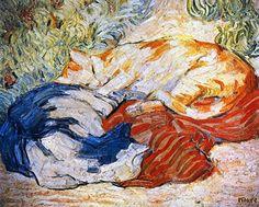 Franz Marc, Cats, 1909-1910:
