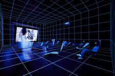Hito Steyerl (b. 1966), Factory of the Sun, 2015. High-definition video, color, sound; 22:56 min., looped; with environment, dimensions variable. Installation view: Invisible Adversaries, Hessel Museum of Art, Bard College, Annandale-on-Hudson, New York, 2016. Bard College, Annandale-on-Hudson, New York; Marieluise Hessel Collection. Image courtesy of the artist and Andrew Kreps Gallery, New York.