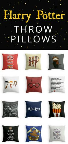 your geek on and channel the wonderful world of Harry Potter into your home decor with these fantastic throw pillows.Get your geek on and channel the wonderful world of Harry Potter into your home decor with these fantastic throw pillows. Harry Potter Fiesta, Décoration Harry Potter, Classe Harry Potter, Harry Potter Bedroom, Harry Potter Pillow, Harry Potter Products, Harry Potter Gadget, Harry Potter Accesorios, Harry Potter Bricolage