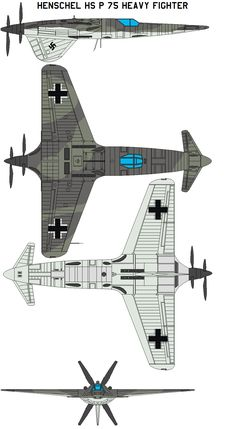 Henschel Hs P 75 Heavy Fighter by bagera3005 on DeviantArt