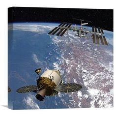 Global Gallery Orion Docking at the International Space Station, Project Constellation Photographic Print on Wrapped Canvas Size: