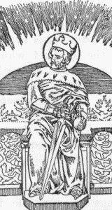 New Catholic Dictionary illustration of Saint Olaf II, artist unknown