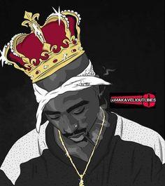 Tupac inspired art.