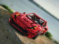 Lego Racers, Lego Moc, Lego Technic, Supercars, Legos, Ferrari, Sports, One Piece Drawing, Lego