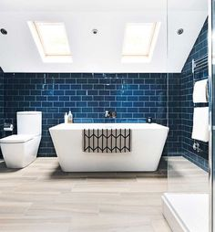 Real home: a sophisticated master suite loft conversion Loft bathroom with freestanding bath Loft Bathroom, Guest Bathrooms, Upstairs Bathrooms, Ensuite Bathrooms, Family Bathroom, Bathroom Interior, Modern Bathroom, Brown Bathroom, Bathroom Suites Uk