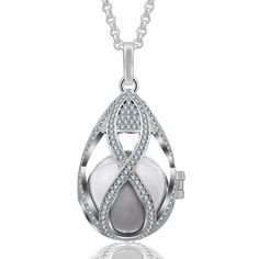 Bola De Grossesse Harmony En Argent Cage Jewelry Necklaces, Bracelets, Clear Crystal, Pendants, Pendant Necklace, Crystals, Silver, Cage, Drop