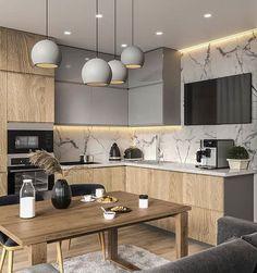 Kitchen Interior Design Unbeatable two tone kitchen cabinets wood and white Two Tone Kitchen Cabinets, Contemporary Kitchen Cabinets, Modern Kitchen Interiors, Kitchen Cabinet Colors, Painting Kitchen Cabinets, Kitchen Paint, Modern Kitchens, Kitchen Cupboard, Small Kitchens