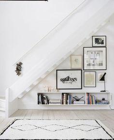 Deko Idee für die Wand unter der Treppe: