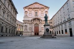 MILAN, ITALY   l    Alessandro Francesco Tommaso Manzoni, the great 19th century Italian writer, is memorialized in a sculpture in Piazza San Fedele.