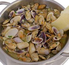 Coquinas. Restaurante Miramar en La Antilla (Lepe - Huelva)