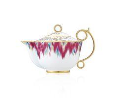 Grouped_voyage_en_ikat | Porcelaine Hermès Voyage En Ikat Maison | Hermès, Site Officiel